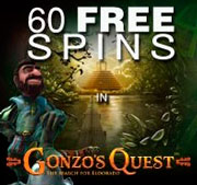 60 Free Spins in Gonzo's Quest