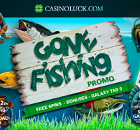 """Gone Fishing"" promotion on CasinoLuck"