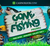 """Gone Fishing"" promotion on CasinoLuck"