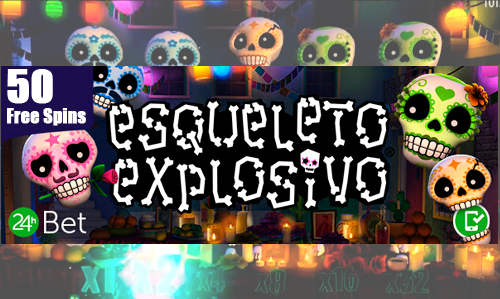 "50 Free Spins daily in the game ""Esqueleto Explosivo"""
