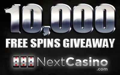 10000 Free Spins Giveaway at NextCasino