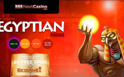 NextCasino lanserar egyptisk Promo (17th augusti - 21st augusti)