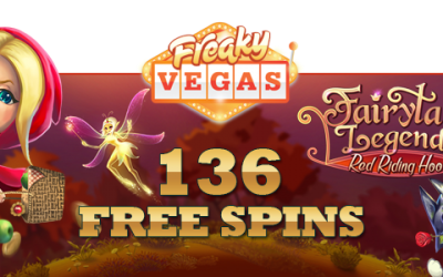 "Free spins sur dernière version du jeu de Netent - ""Legends Fairytale: Red Riding Hood"""
