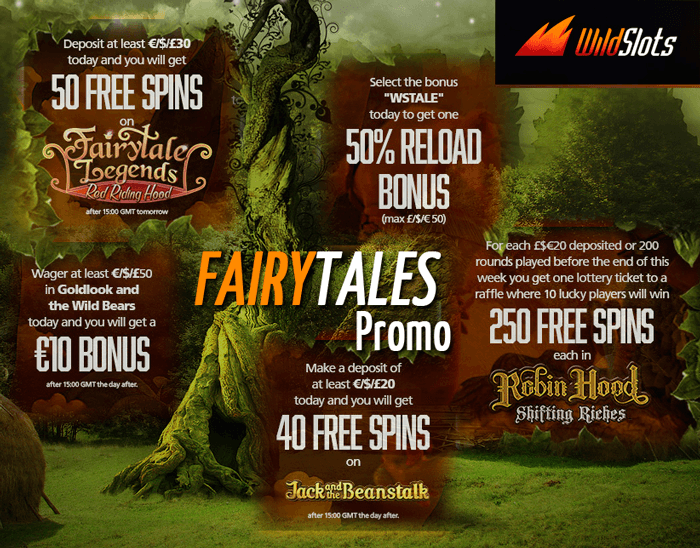Fairytales Promo: Free spins and cash bonuses!