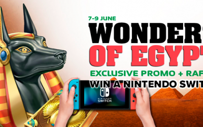 Promo Wonders of Egypt: Gagnez un Nintendo Switch!