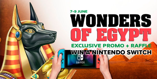 Wonders of Egypt promo: Win a Nintendo Switch!