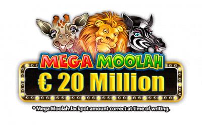Alerte Mega Jackpot: Le jackpot Megamoolah est maintenant à plus de € 20 Million et ça continue!